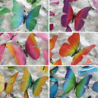 72 pcs 3D Butterfly Stickers DIY Wall Decals Crafts Wedding Supply Decorations