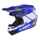 NEW 2019 TROY LEE DESIGNS SE4 TEAM YAMAHA RS1 POLYACRYLITE HELMET BLUE ALL SIZES