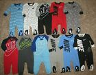 NIKE Footed Coverall 0-3 3-6 6-9 9-12 Months Black Gray Blue