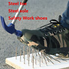 Labor Insurance Puncture Proof Shoes Real Steel Toe and 1mm Thick Plate Sole