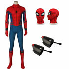 Spider-Man Homecoming Peter Parker Cosplay Superhero Halloween Outfit Jumpsuit