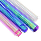 Glitter Transparent Vinyl Fabric Iridescent PVC For DIY Sewing Hair Bows Handbag
