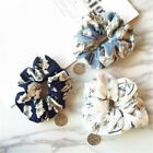 1Pc Floral Hair Rope Ring Tie Women Elastic Scrunchie Ponytail Holder Hair Band