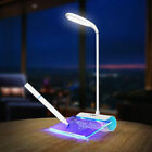 Light Touch Table Board Lamp Message LED Desk Reading USB Switch Rechargeable
