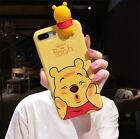 3D Cute Winnie the Pooh Stich Doll Soft Case Cover for iPhone XS Max XR 6S 7 8+