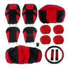 13pcs Universal Car Seat Covers Headrest Front&Rear Seat Covers All Seasons R9D9 $22.09 USD on eBay
