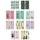 OFFICIAL emoji® CACTUS AND PINEAPPLE LEATHER BOOK WALLET CASE FOR HTC PHONES 1