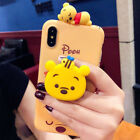 3D Cute Disney Doll Airbag Stand Holder Case Cover for iPhone Xs Max Xr 6S 7 8+