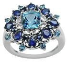 Swiss Blue Topaz 2.45 Ct. Exotic Ring Gemstone AAA Quality Fashion Event Jewelry