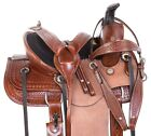 Children Western Roping Ranch Leather Tooled Youth Kid Seat Horse Saddle Tack