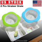2 PCS  Kitchen Sink Stopper Strainers Plastic Drain Filter Hair Strainer Basket