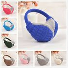 Women Solid Color Plush Knitted Ear Cover Ear Muffs Winter Warm Ear Warmers New