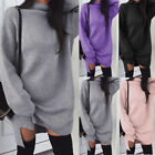 NEW Women Knitted Oversized Sweater Jumper Dress Ladies Winter Long Pullover Top