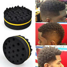 Men Hair Curl Brush Double Sides Coil Barber Wave Twists Sponge Afro Braids Tool