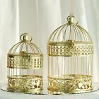 "BIRD CAGES Gold 13"" and 9"" tall Wedding Party Centerpieces Home Decorations SALE"