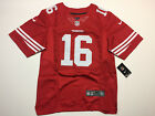 Joe Montana 16 San Francisco 49ers Red Mens Jersey New