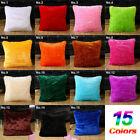 Soft Fur Plush Square Throw Pillow Cases Home Decor Sofa Waist Cushion Cover 18""
