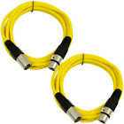 2 Pack of XLR Patch Cables 6 Foot Extension Cords Jumper 3 Pin - Various Colors