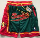Seattle Supersonics Vintage Basketball Game Shorts NBA Men's NWT Stitched Pants on eBay