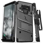 Zizo BOLT Case Cover with Clip Holster + Tempered Glass Samsung Galaxy Note 9