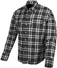 Speed & Strength Mens Black Nine Reinforced Flannel Motorcycle Riding Moto Shirt