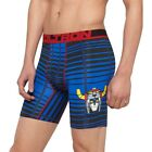 NWT Men's Bioworld Voltron Dynamic Stretch Boxer Briefs Blue/Red  XL