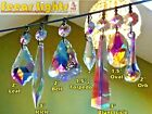 AB GLASS CRYSTALS CHANDELIER DROPLETS SPARE LIGHT DROPS LAMP PARTS VINTAGE RETRO