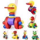 Intelligence Push and Pull Along Toy Developmental Cute Fashion Cock Frog Cat