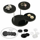 Acrylic Necklace Jewelry Round Earring Bracelet Display Stand Holder Rack Jian