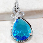 5.36 TCW Ladies Genuine Swiss Blue Topaz set in Pure 925 Sterling Silver Pendant