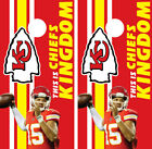 Cornhole Board Wrap Skins Vinyl KC Kansas City Chiefs Mahomes Kelce Hill Kingdom $55.0 USD on eBay