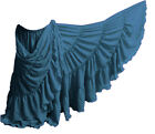 TEAL Chiffon 25 Yard 4 Tier Skirt Belly Dance GYPSY Ruffle Tribal Costume