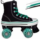 MVP Roller Skates for Kids - Boys & Girls Quad Skate Sneaker High Top Shoe Style