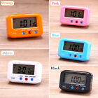Small Alarm Clock LCD Digital Time & Date Stop Snooze Night Light Kitchen Timer