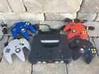 N64 Nintendo 64 Console W/ 4 ORIGINAL Controllers! - CHOOSE FROM POPULAR GAMES!