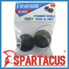 Pack of 2 Spartacus SP201 Spool & Double Line fits Various Brands & Models