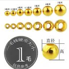1pcs Hot Real 999 24k Yellow Gold Lucky Carved Bead For Bracelet Or Necklace