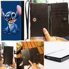 Lilo & Stitch Happy Excitied PU Leather Purse Wallet Wrist Phone Bag Case Cover
