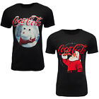 Coca Cola Mens Ladies Unisex Christmas Cotton Black Printed T-shirt Crew Neck £4.99  on eBay