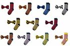 Jacob Alexander Matching College Stripe Dress Socks and Bow Tie $14.95 USD on eBay