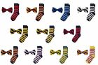 Jacob Alexander Matching College Stripe Dress Socks and Bow Tie $20.26 CAD on eBay