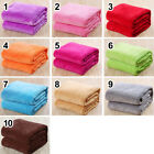 Solid Warm Micro Plush Fleece Blanket Throw Rug Sofa Bedding Soft Pet Blanket image