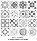 Grey Mosaic / Pattern Tile Stickers For 150mm X 150mm / 6 X 6 Inch Design G03