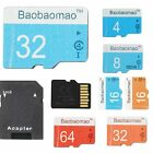 LOT Micro SD Card 4 8 16 32 64GB TF Flash Memory Card Adapter Camera Phone SG