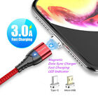 FLOVEME 3A Magnetic Micro USB TYPE-C Charger Charging Cable For Android Samsung