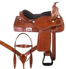 Ranch Saddle 15 17 18 Western Pleasure Trail Premium Leather Horse Tack Set