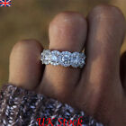 Best Women Silver Plated Full Zircon Rhinestone Wedding Engagement Ring Jewelry