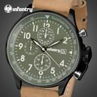 INFANTRY Watch With Leather Band