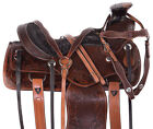Used Western Saddle 14 15 16 17 Pleasure Trail Wade Tree Ranch Roping Horse Tack