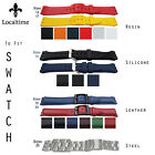 Watch Strap Fits All SWATCH Models In Resin Silicone & Steel 12 17 18 19 20 24mm
